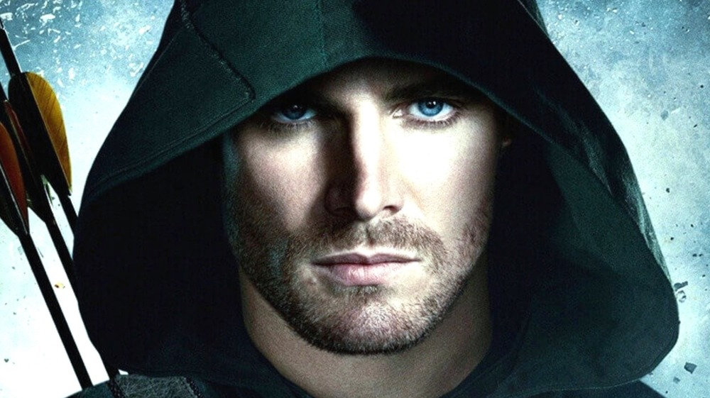 Stephen Amell with arrows