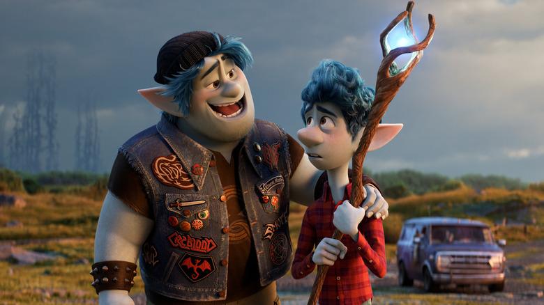Barley and Ian Lightfoot in Pixar's Onward