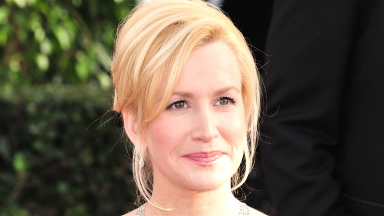 Angela Kinsey smiling while looking ahead