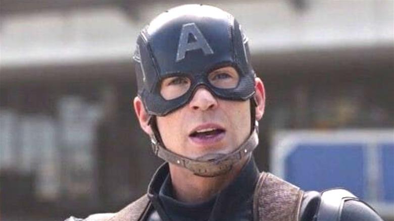 Captain America in helmet