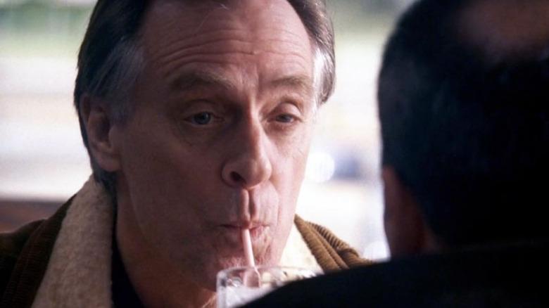 Frank Breitkopf enjoys a milkshake