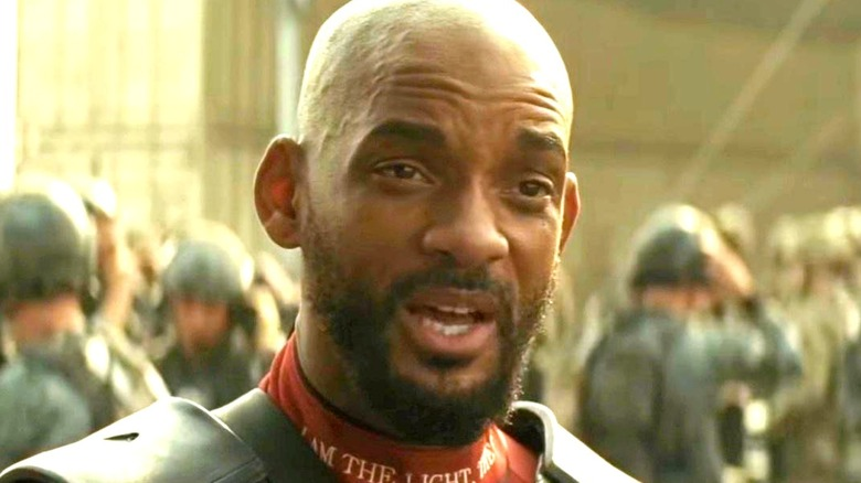 Deadshot looking puzzled