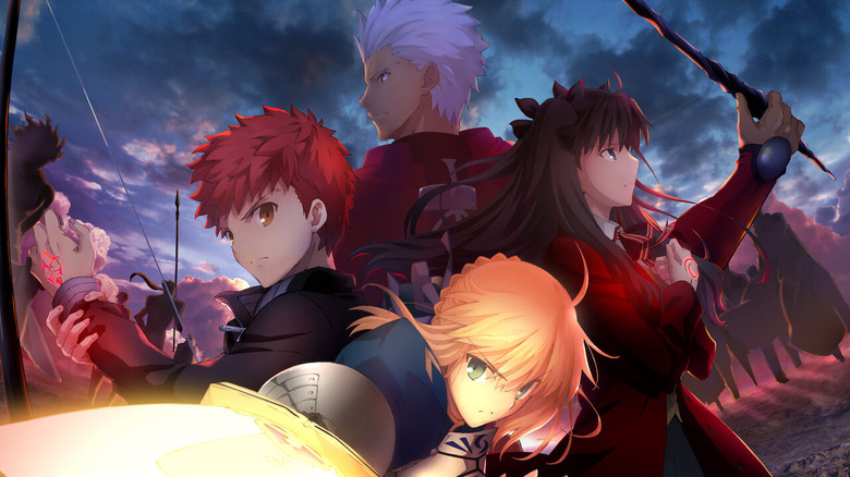 Saber with other servants