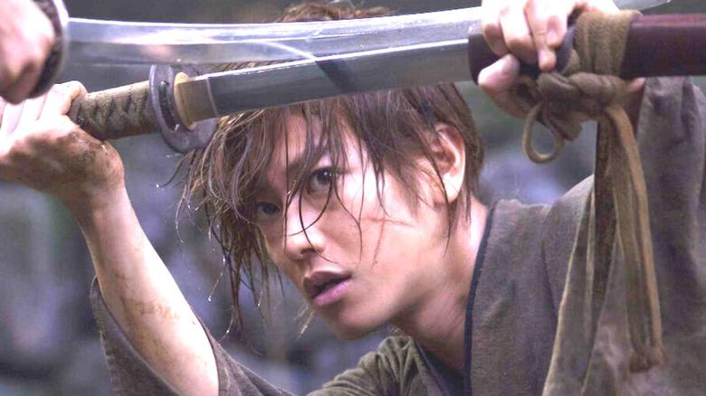 Rurouni Kenshin with scar