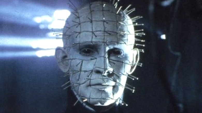 Pinhead appearing emotionless