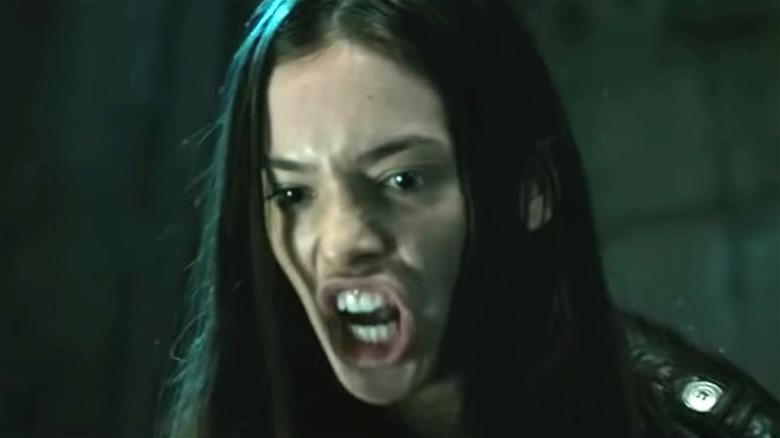 Katie yells