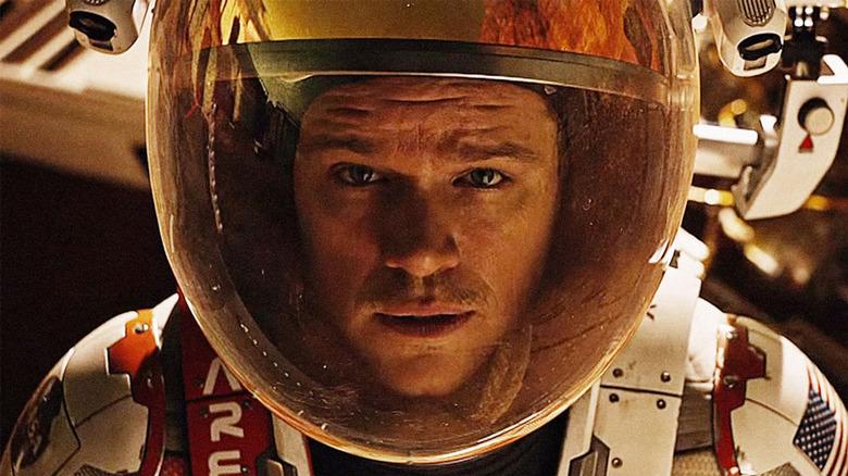 Matt Damon in astronaut suit The Martian