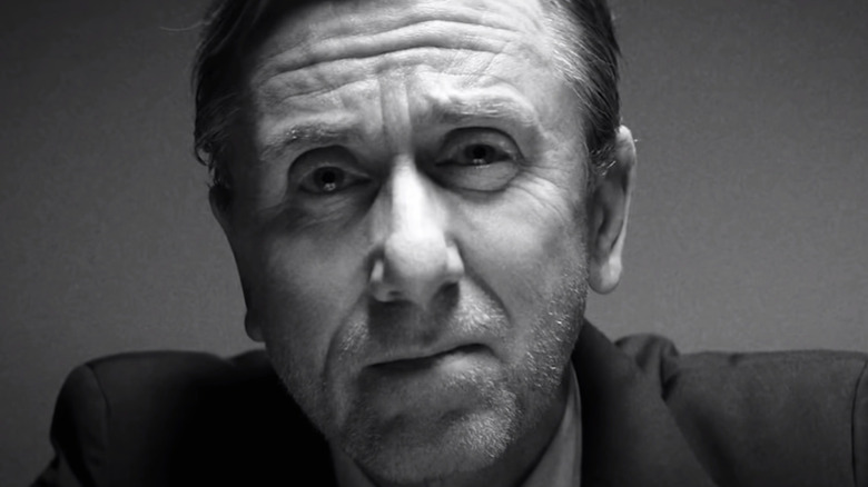 Tim Roth looking serious