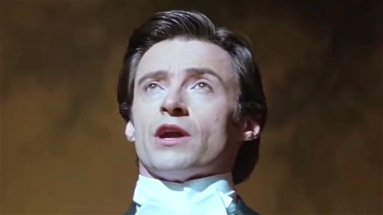 Hugh Jackman looking up in The Prestige