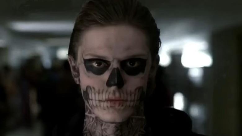 Tate Langdon wearing skull makeup