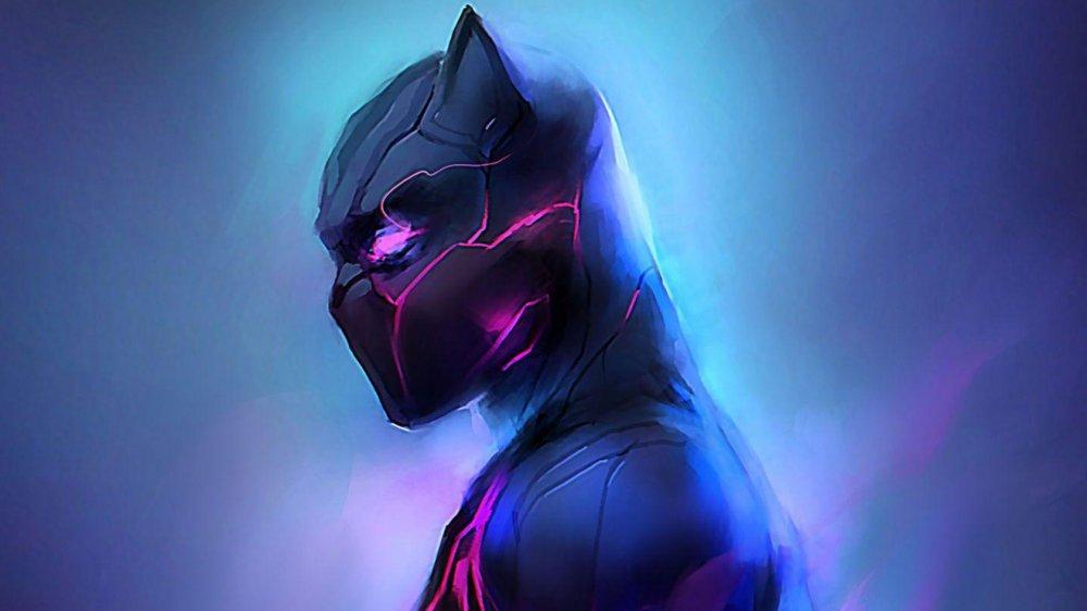 Black Panther artwork by Leonardo Vincent