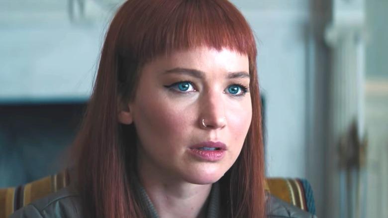 Jennifer Lawrence red hair nosering