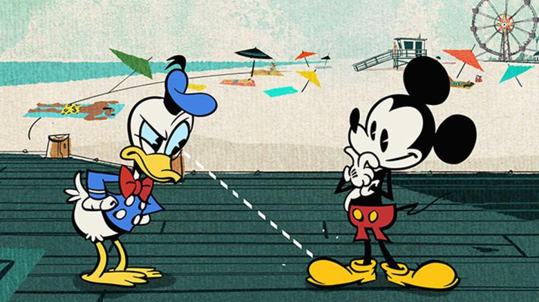 Mickey and Donald thinking