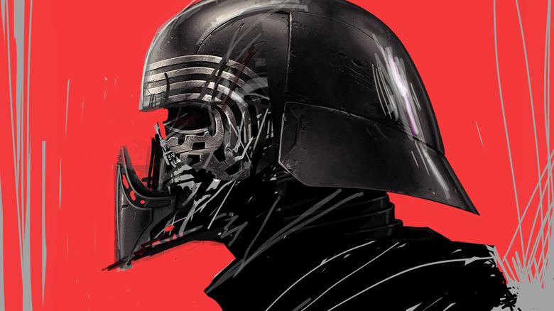 Kylo Ren concept art from The Rise of Skywalker