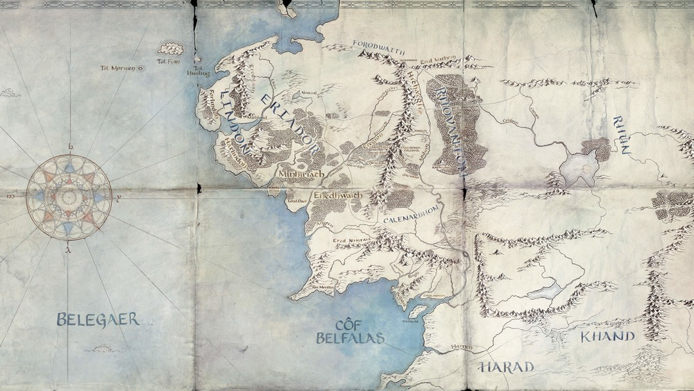Amazon's Middle-earth map