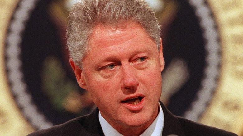President Bill Clinton speaking in 1998