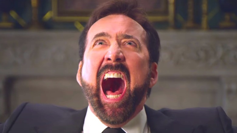 Nicolas Cage yelling