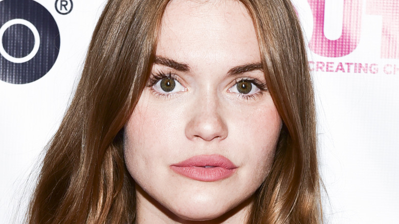 Holland Roden pursed lips