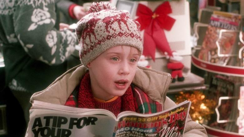 Macaulay Culkin as Kevin in Home Alone