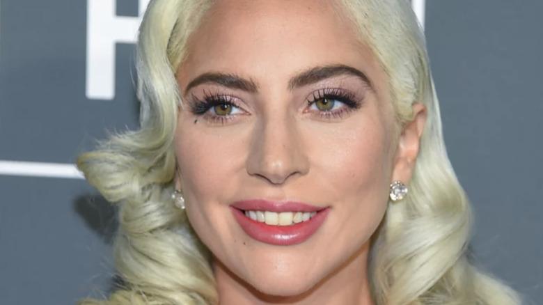 Lady Gaga smiling.