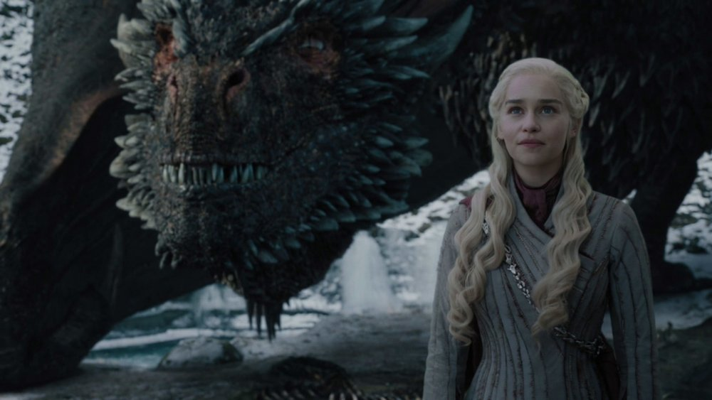 Emilia Clarke as Daenerys Targayen on Game of Thrones