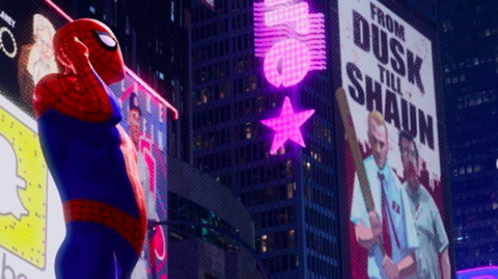 From Dusk Till Shaun poster in Spider-Man: Into the Spider-Verse