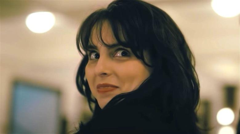 Monica looking over her shoulder