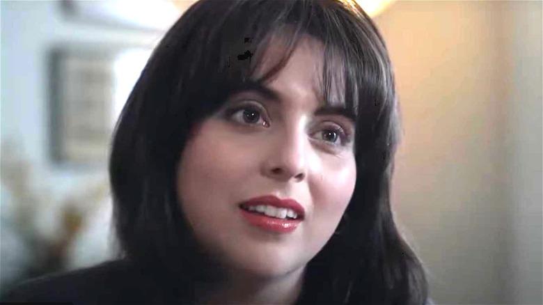 "Beanie Feldstein as Monica Lewinsky in closeup in ""Impeachment"""