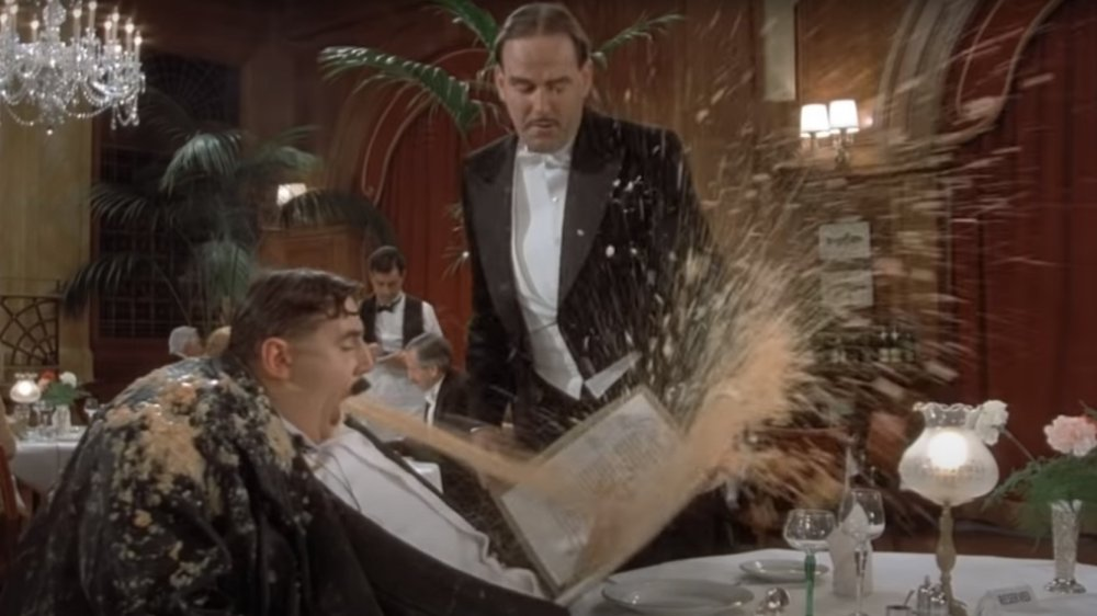 John Cleese and Michael Palin in the vomit scene from Monty Python's The Meaning of Life