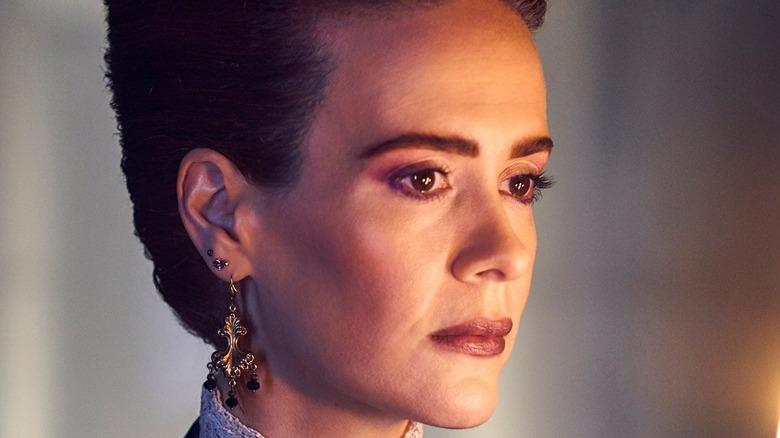 Sarah Paulson wearing elaborate earring