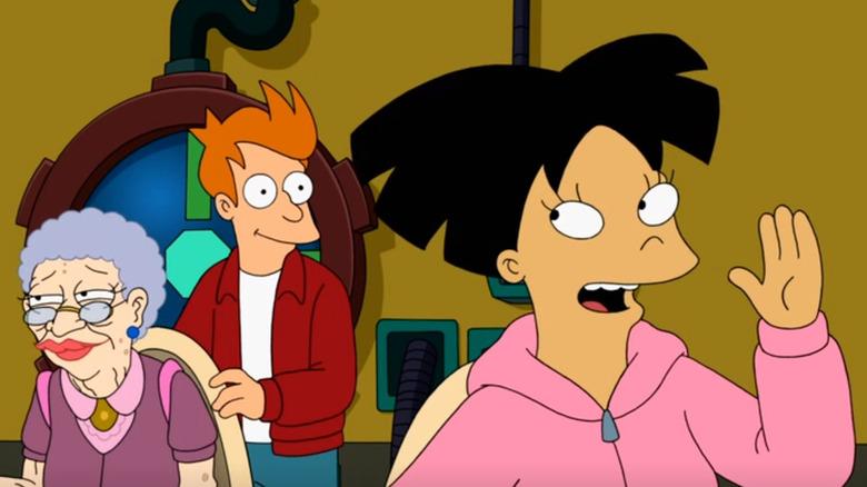 Fry and Amy on Futurama