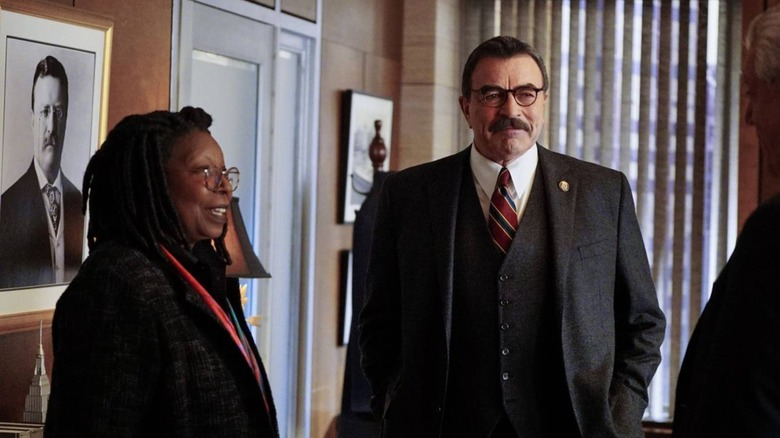 Tom Selleck and Whoopi Goldberg on Blue Bloods