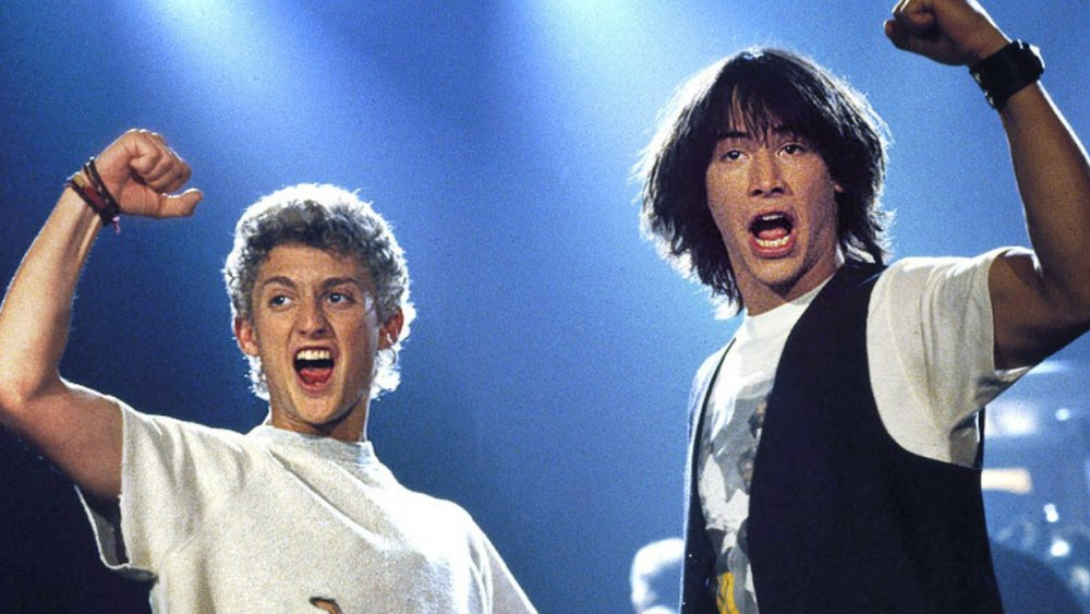 """Alex Winter as """"Bill"""" and Keanu Reeves as """"Ted"""" in Bill and Ted's Excellent Adventure"""
