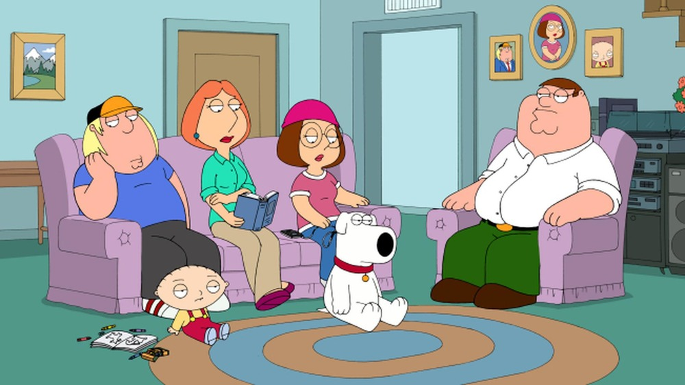 Family Guy Griffin family sitting