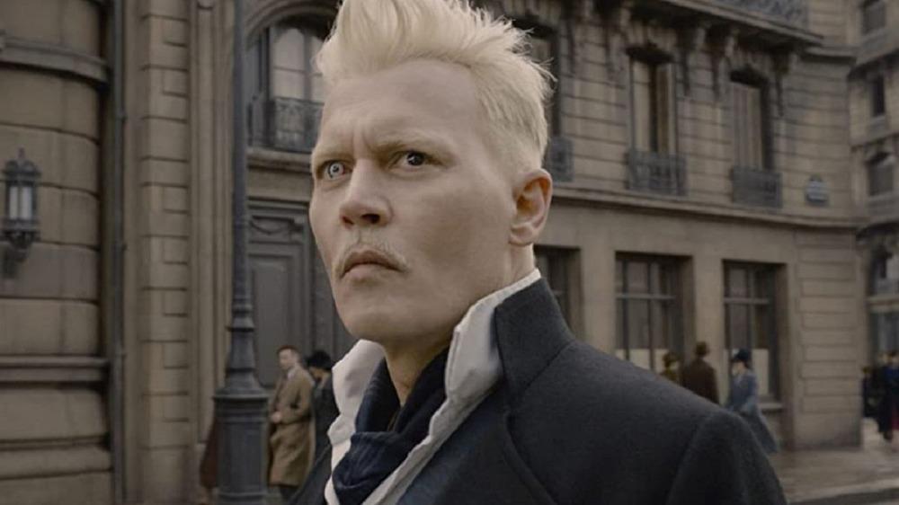 Johnny Depp as Gellert Grindelwald in Fantastic Beasts: The Crimes of Grindelwald