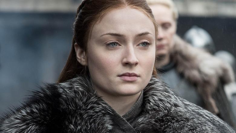 Sophie Turner as Sansa Stark on Game of Thrones season 8 episode 4 The Last of the Starks