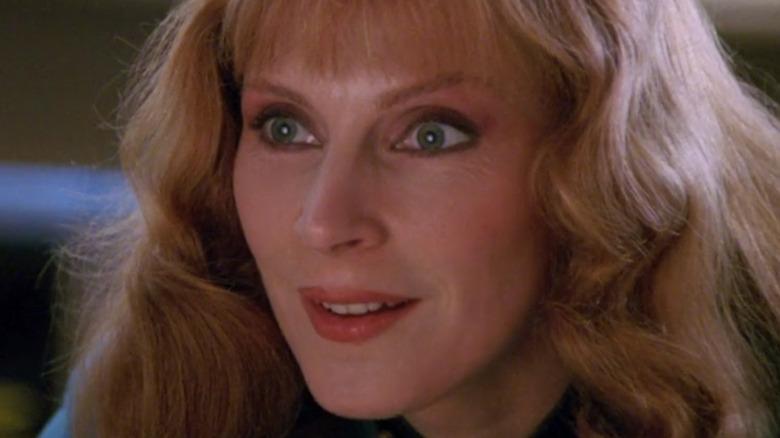 Gates McFadden Doctor Beverly Crusher smiling