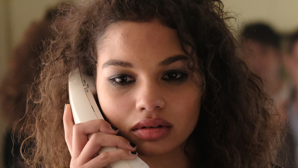 Helena Howard holding phone