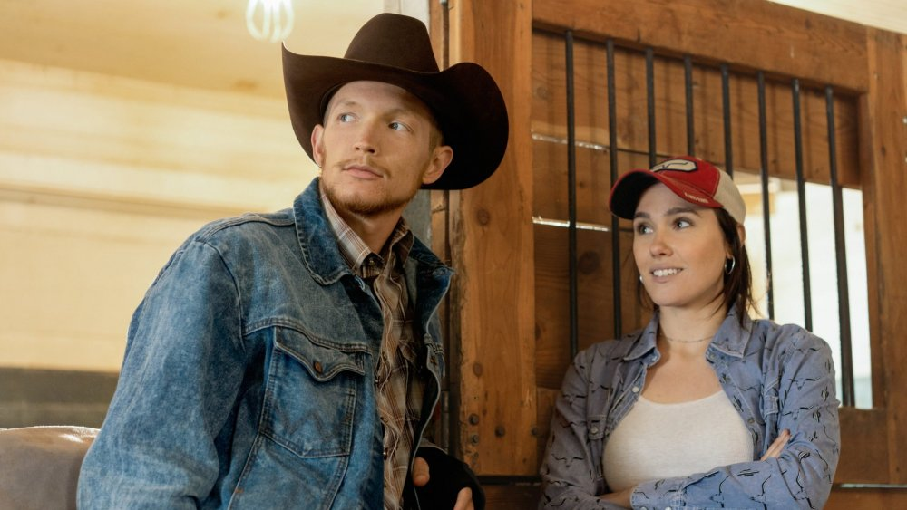 Jefferson White and Eden Brolin as Jimmy and Mia on Yellowstone