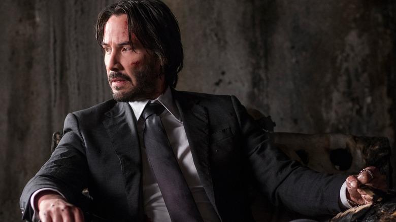Keanu Reeves as John Wick in John Wick: Chapter 2