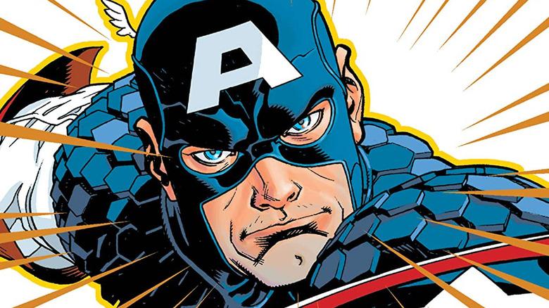 Captain America fights