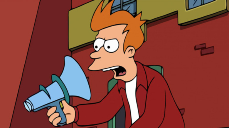 Fry yelling at himself