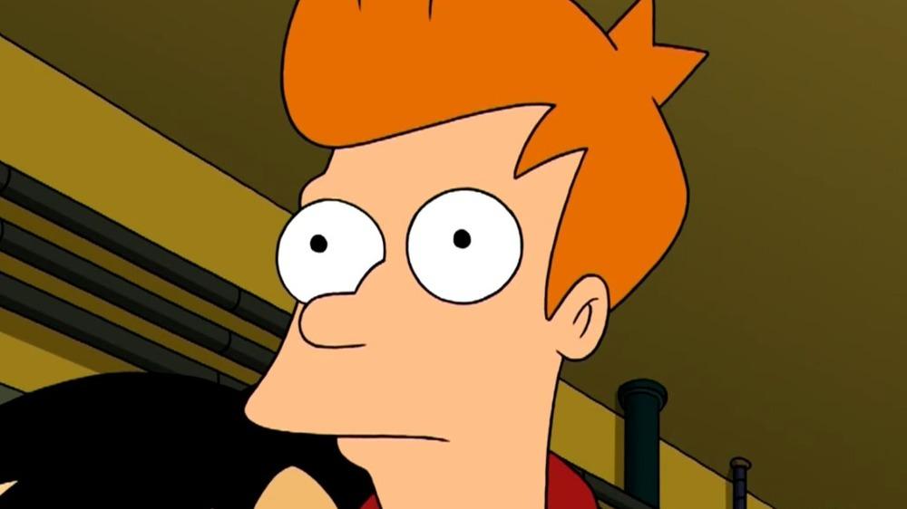 Futurama Fry is shocked