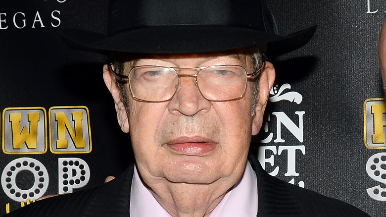 """Richard """"Old Man"""" Harrison wearing a hat"""