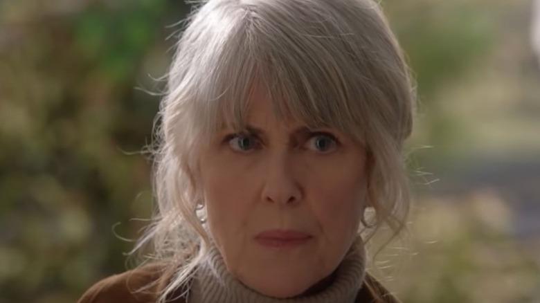 Marcie Warren looking stern