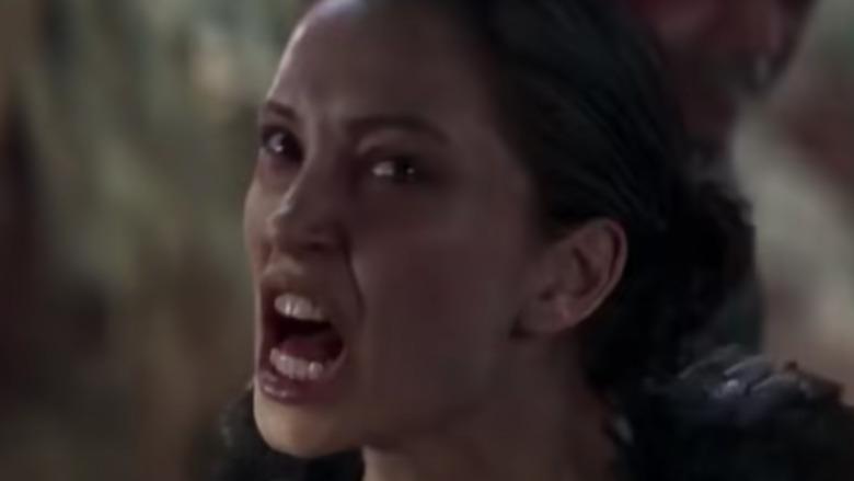 Nitara screams in Mortal Kombat