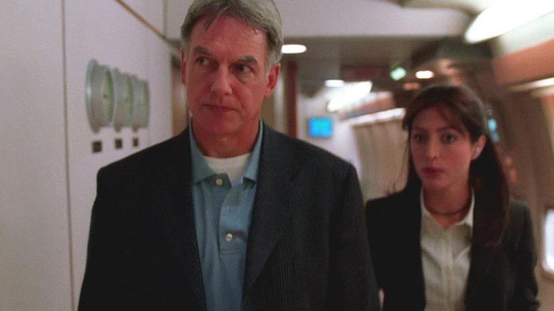 Mark Harmon as Agent Gibbs and Sasha Alexander as Caitlin Todd in NCIS
