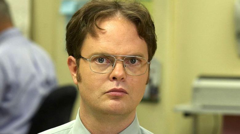Dwight Schrute staring