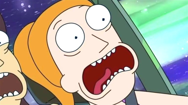 Summer screaming Rick and Morty