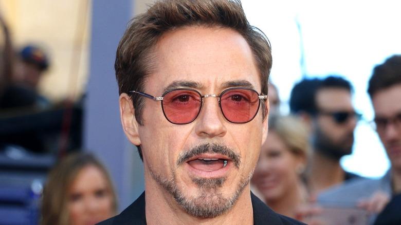 Robert Downey Jr. mouth open